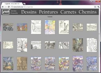 Site présentant le travail du peintre Demant